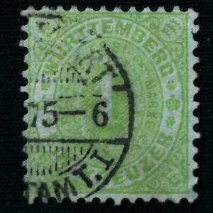 ETATS ALLEMANDS WURTEMBERG SC #54 utilisée fine 1874-afficher le titre d`origine ztSR6sr6-07152016-746352091