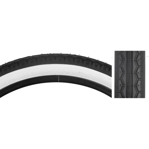 Sunlite Tire 20X1.75 Black//White Street K123