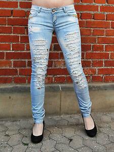 5501-134-Roehren-Jeans-Used-Optik-Zerrissen-extra-Slim-Fit-Gr-34-42-XS-XL