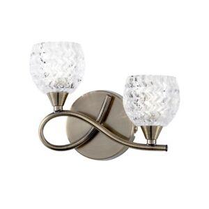 Endon Neeson 2WBAB Antique Brass 2x40W DoubleWall Light Lamp Alabaster Glass Garage: uitrusting, gereedschap