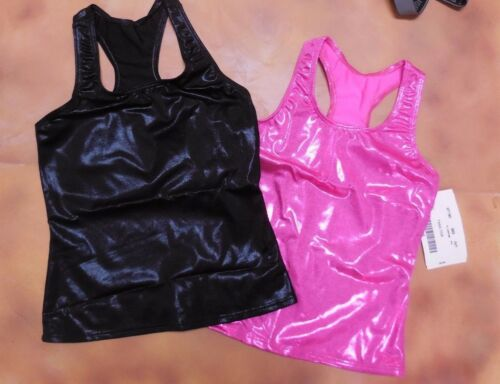 NWT Axis Racer Back Tank Top Foil 5 colors ch// adult gymnastic Cheer Dance 97180