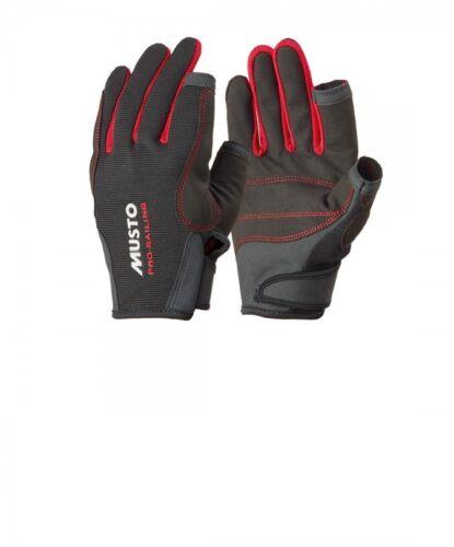 Schwarz Bootsport Handschuhe Musto Segelhandschuh Essential L/F lang