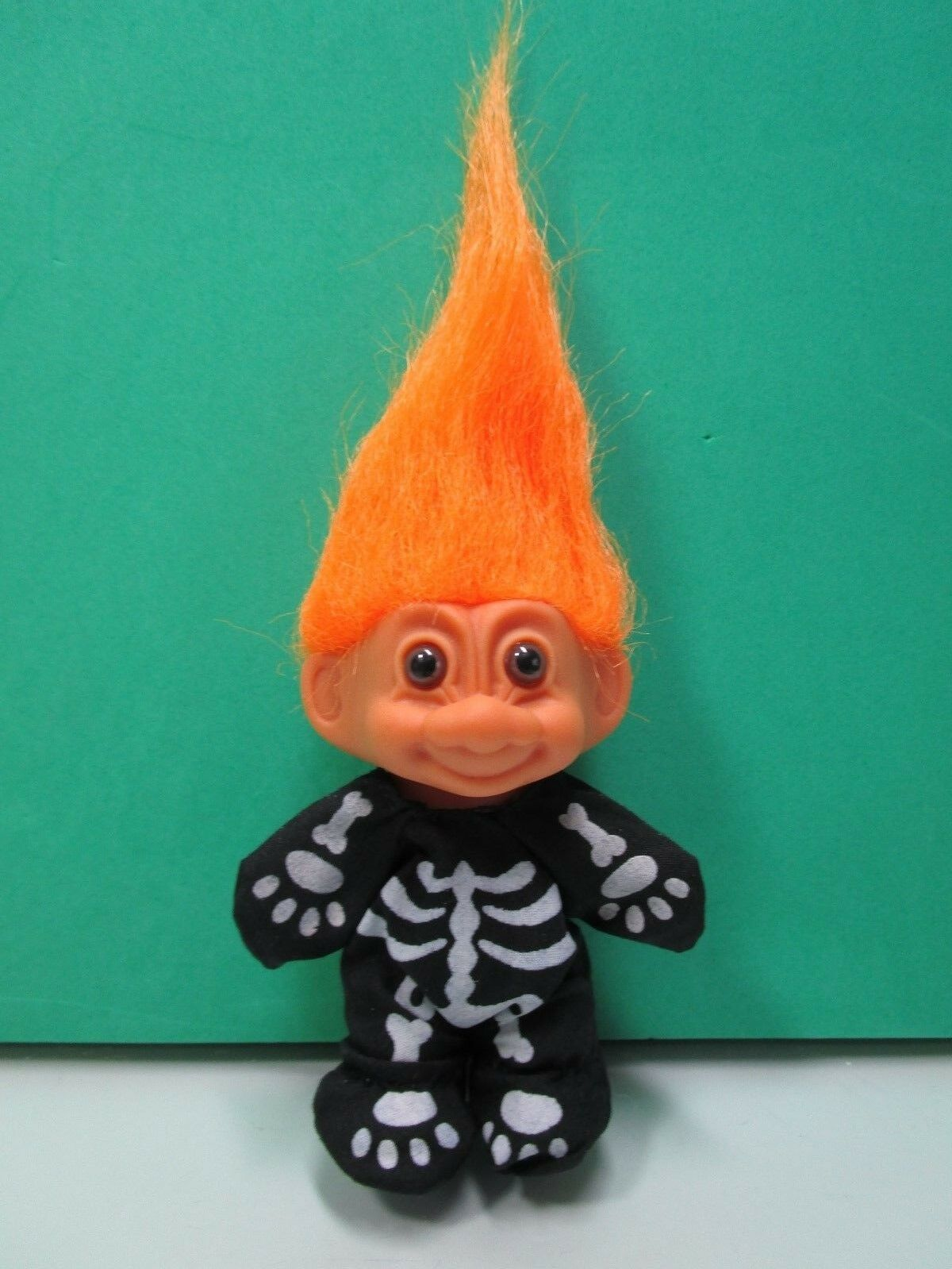 "HALLOWEEN SKELETON Rare NEW IN ORIGINAL WRAPPER 3/"" Russ Troll Doll"