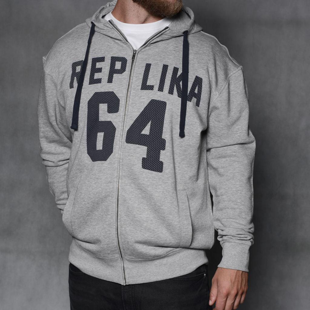 Replica Jeans King Größe Hoodie/Grau - 4X