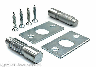 12 x PAIRS HINGE BOLTS SECURITY CATCH BZP ZINC PLATED STEEL SCREWS