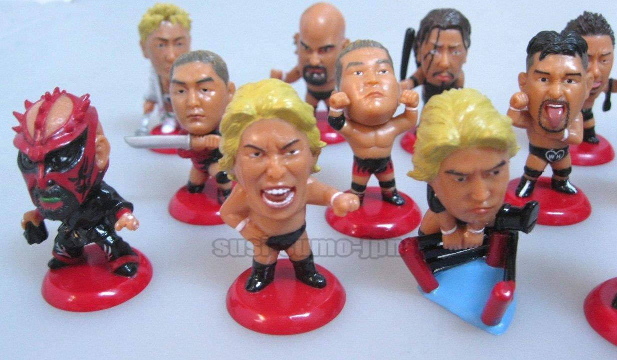 NJPW AJPW PRO WRESTLING MINI BIG HEAD FIGURE Great Muta Muta Muta Ultimo Dragon Bernard fbf2d3