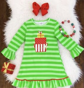 New NWT 3T or 4T Girls lot oufit shirt tulle tutu skirt Christmas tree Holiday