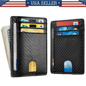 Slim-Minimalist-Front-Pocket-RFID-Blocking-Carbon-Fiber-Wallets-for-Mens-Wallet