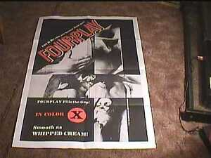 Image Is Loading Fourplay Orig Movie Poster Vintage Sexploitation Hot Sexy