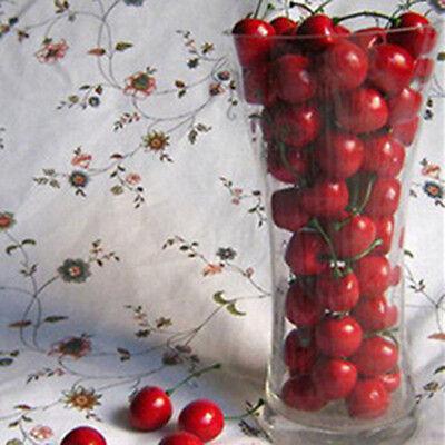 New 20pcs Mini Artificial Plastic Cherry Fruit Food Party Decorative Decor