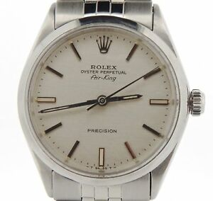a1cbef74af55 Image is loading Rolex-Air-King-Precision-Mens-Stainless-Steel-Watch-