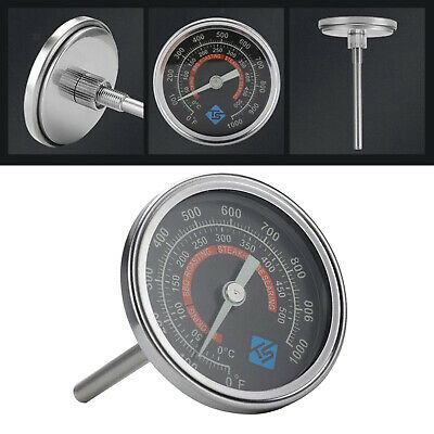 BBQ Smoker Grill Thermometer 0-1000°F Barbecue Charcoal Grill for Oven Accs