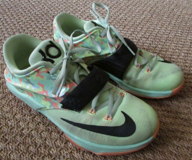 promo code 00011 736f3 Nike KD VII 7 GS Kids Liquid Lime Green Black Easter Durant 669942 304 Sz 7Y