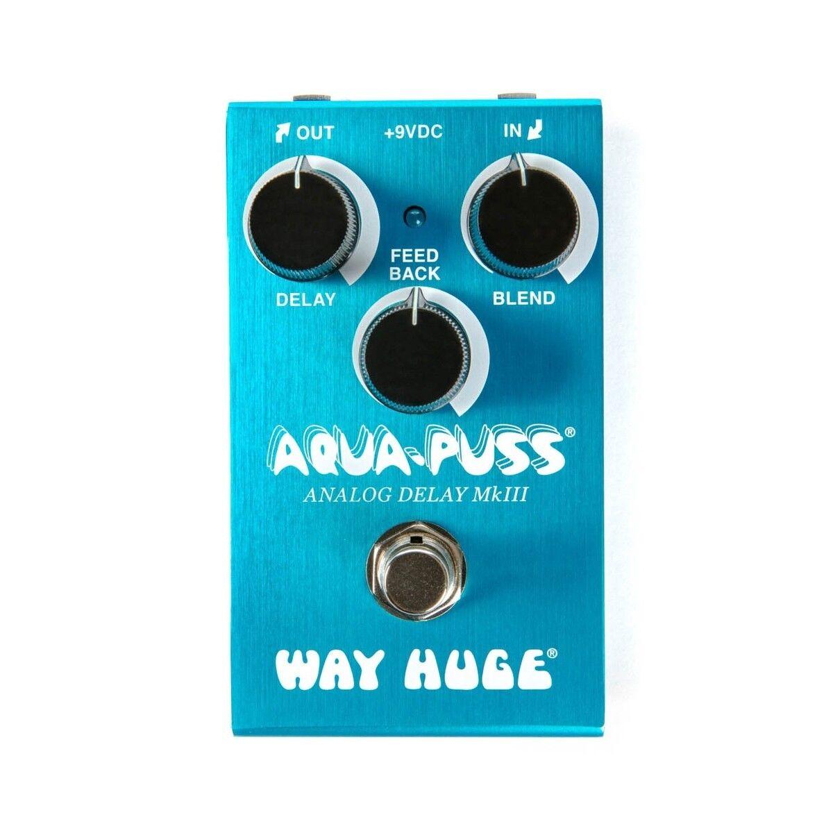 Way Huge JD-WM71 Smalls AQUA-PUSS Analog Delay MK3 Guitar Pedal