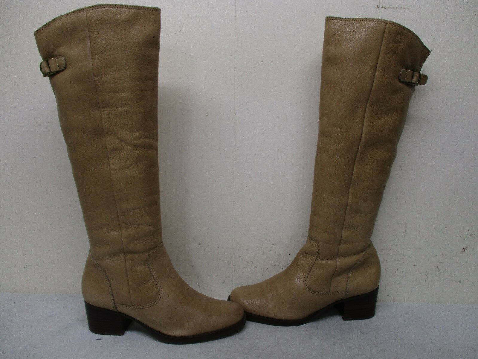Matisse Rio Grande Tan Leather Knee High RIding Boots Womens Size 6.5 M