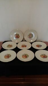 Vintage-Marks-amp-Rosenfeld-M-amp-R-Luncheon-Plates-8-plates-Made-in-France