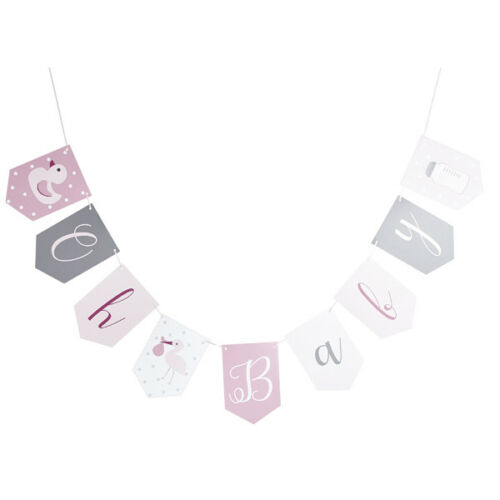 PINK GIRL BABY SHOWER PARTY DECORATIONS POMPOMS GARLANDS BANNERS BUNTING