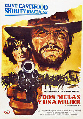 Two Mules for Sister Sara Clint Eastwood cult movie poster print 1970