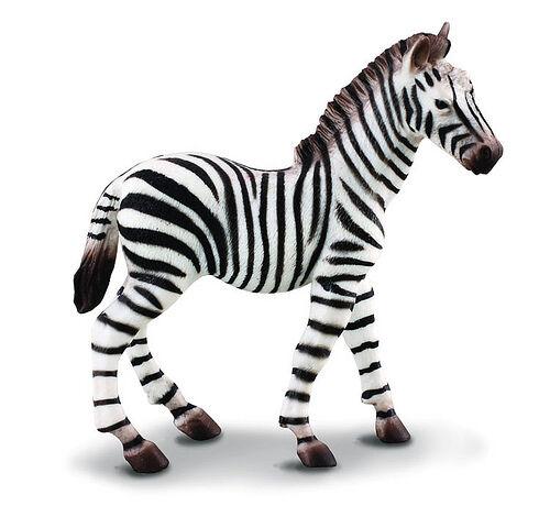 NIP CollectA 88168 African Common Zebra Foal Wildlife Toy Figurine Replica
