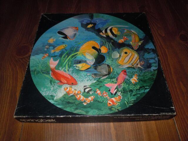 Vintage 1983 Springbok 500p Jigsaw Puzzle Undersea Enchantment Tropical Fish EUC
