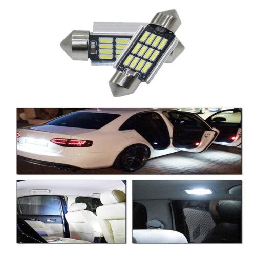 2X 6000K 36mm 5730 White Festoon 12SMD LED Light Bulbs Canbus Loop LED Interior