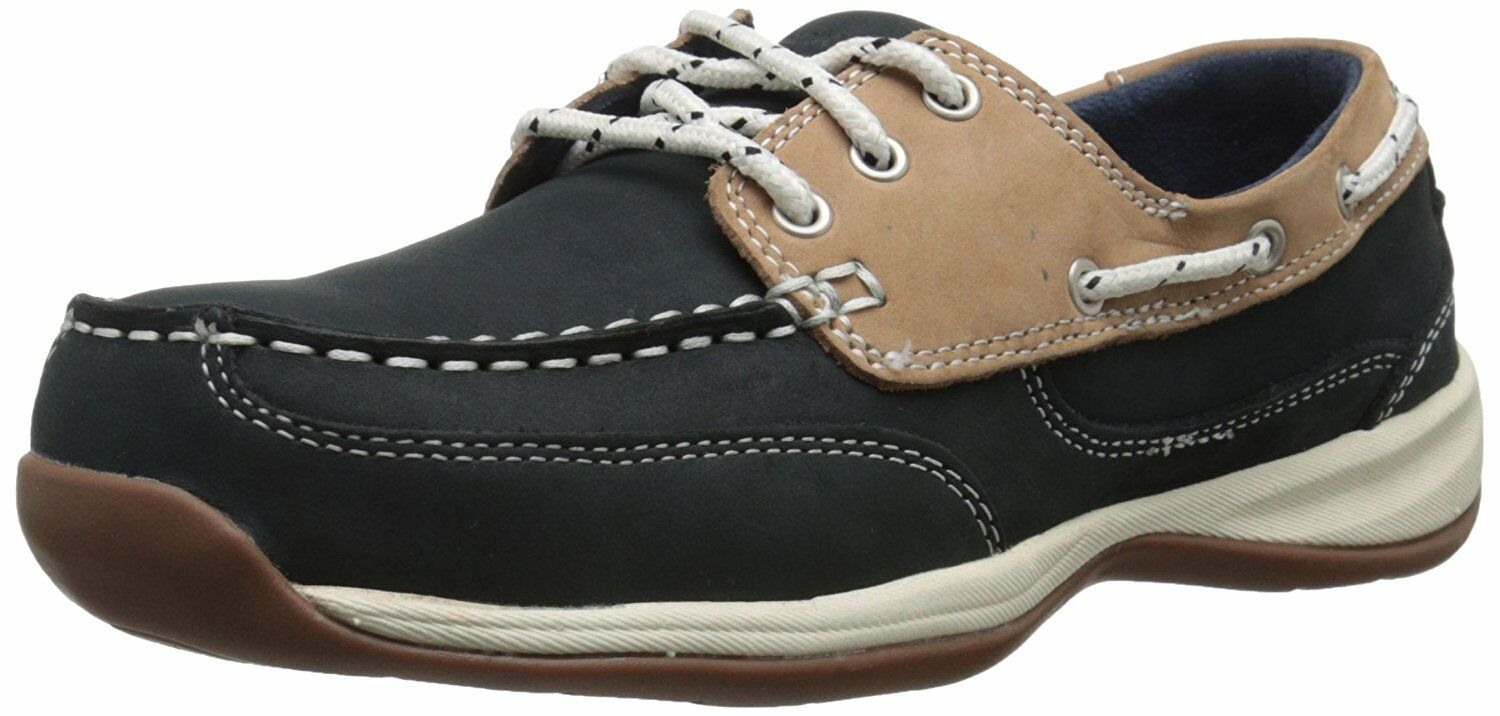 Rockport Works Damens Sailing Club 3 Eye Steel Toe Non-Slip CSA Boat Schuhes Sz 9.5