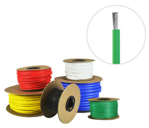 White Fine Strand Tinned Copper 8 AWG Gauge Silicone Wire Spool 25 ft