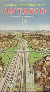 Details about 1965 ONTARIO Official Highway Road Map Toronto Ottawa  Hamilton Sudbury Canada