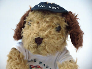 Old-Navy-Dog-Plush-Collectable-Promotional-year-2000-Soft-Toy-T-Shirt-amp-Hat-USA