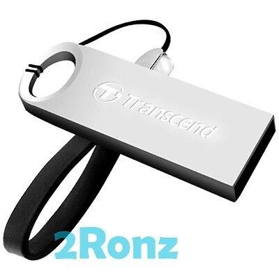 TRANSCEND JF520S 64GB 64G USB Flash Drive Rugged Metal Disk JetFlash 520 Silver