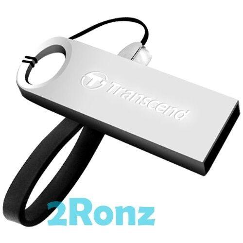 TRANSCEND JF520S 32GB 32G USB Flash Drive Rugged Metal Disk JetFlash 520 Silver
