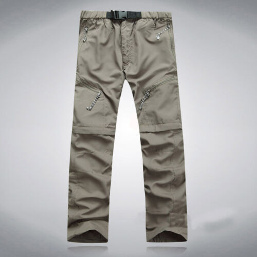 Men/'s Quick Dry Zip Off Convertible Pants Shorts Outdoor Hiking Cargo Trousers