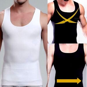 5ae46581be UK Best Men s Body Flat Chest Shaper Vest Firm Tummy Trimmer Belly ...