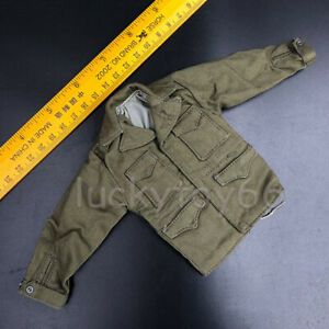 WWII-1-6-Scale-US-Army-Jacket-Tops-Windbreaker-Clothes-Fit-12-034-Action-Figure