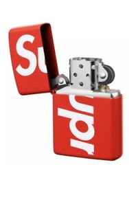 wholesale dealer 97d3c 3e2dc Image is loading Supreme-Zippo-Lighter-Red-SS18-Box-Logo-SS18-