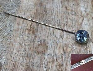 """Audacieux Rare épingle A Cravate Ancienne """" Brillant """" - Or Et Argent Doux Et AntidéRapant"""