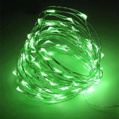 20//30//100 LED Battery Micro Rice Wire Copper Fairy String Lights Party white//rgb