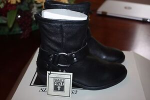 Frye Kids Girls Phillip Harness Short Boot Dark Brown Boots NEW Boxed retail$138