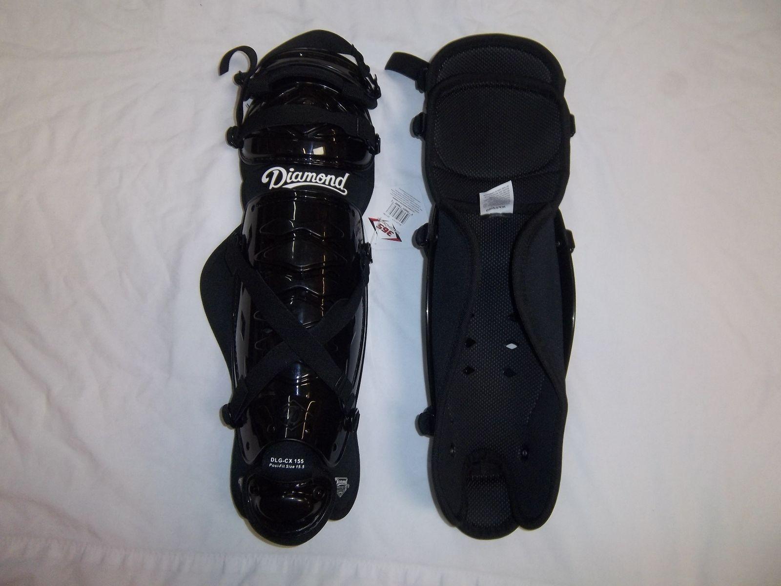 DIAMOND DLG-CX 165 BASEBALL SOFTBALL CATCHERS  LEG GUARD (VARIOUS COLORS)