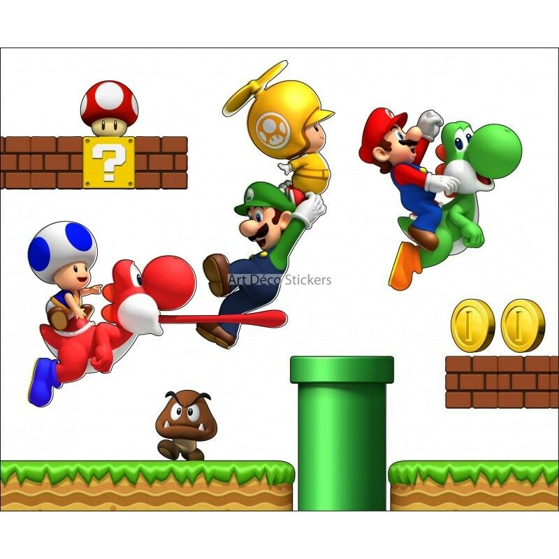 Aufkleber Mario und Seine Freunde Mario und Seine Freunde