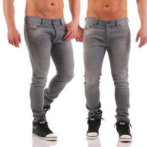 83fae2e5a894 Diesel Jeans Tepphar 0853t Men's Trousers Slim Carrot Grey Skinny ...