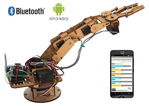 Robotic-Arm-DIY-Kit-SAT101-controlled-by-Android-App-through-Bluetooth