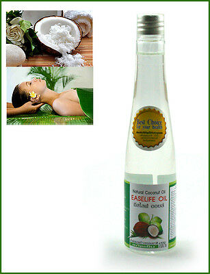 100% THAILAND COCONUT OIL Virgin Pure Cold Pressed Healthy Skin Hair Body 100ml