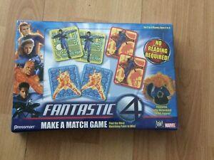 Sealed-Pressman-4529-Marvel-Fantastic-Four-Make-A-Match-Kids-Game-Thing-Figure