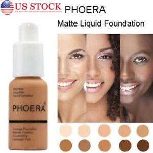 Phoera Foundation Makeup Full Coverage Liquid Base Brighten Long Lasting Shade y