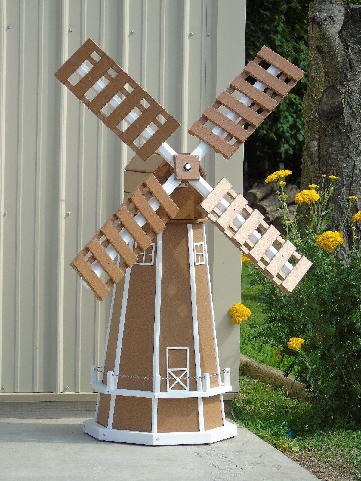 5 ft. Octagon (8 sided) Polywood Dutch Windmill (Carmel with White Trim)