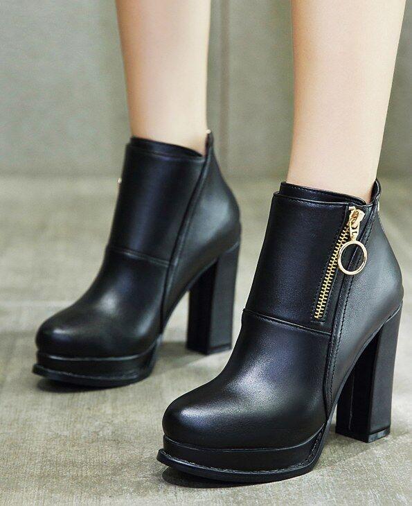 botas stivaletti bassi zapatos alto 10 cm cm cm negro eleganti simil pelle 9425  precios mas baratos