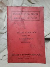 Instruction Book With Price List Of Parts Fuller Amp Johnson Model N 1971 Reprint
