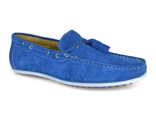 Cuir Suédé Hommes Pour Bateau Bleu Chaussures Tamise Londres Silver Street BSvW4FYF