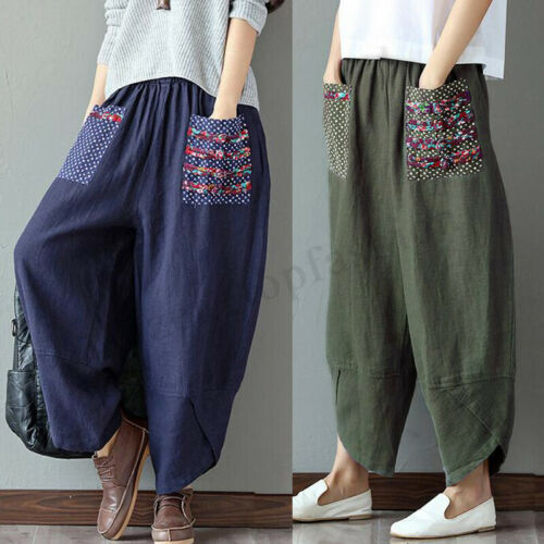 gamba Pantaloni 10 a Harem Hippy pollici 24 da Zanzea larga lunghi qOtO71